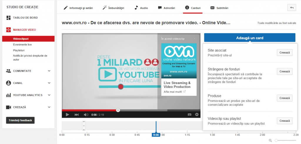 Youtube, video markenting tools